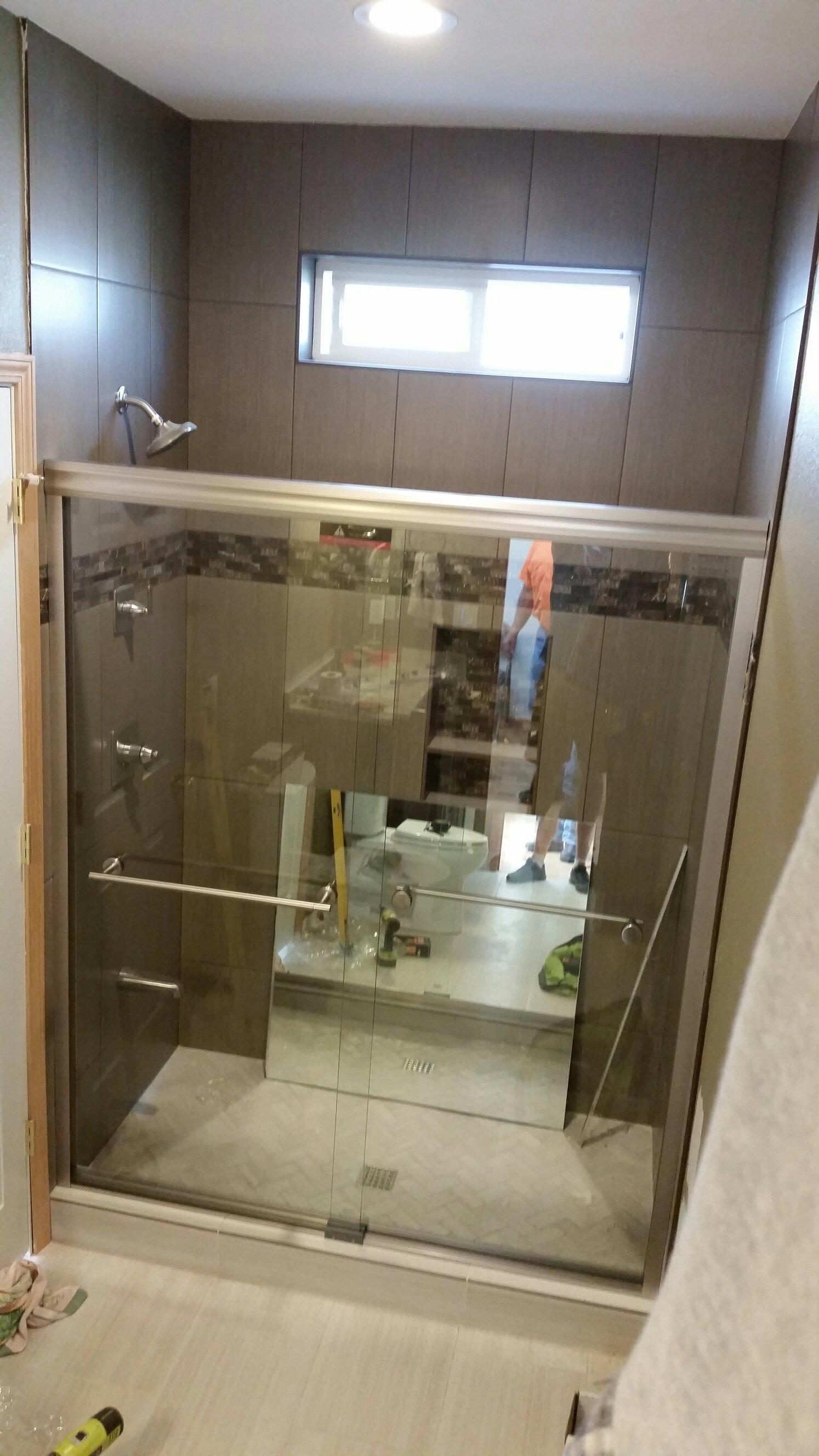Glass Shower Door Installation Hedgehog Home Services Llc