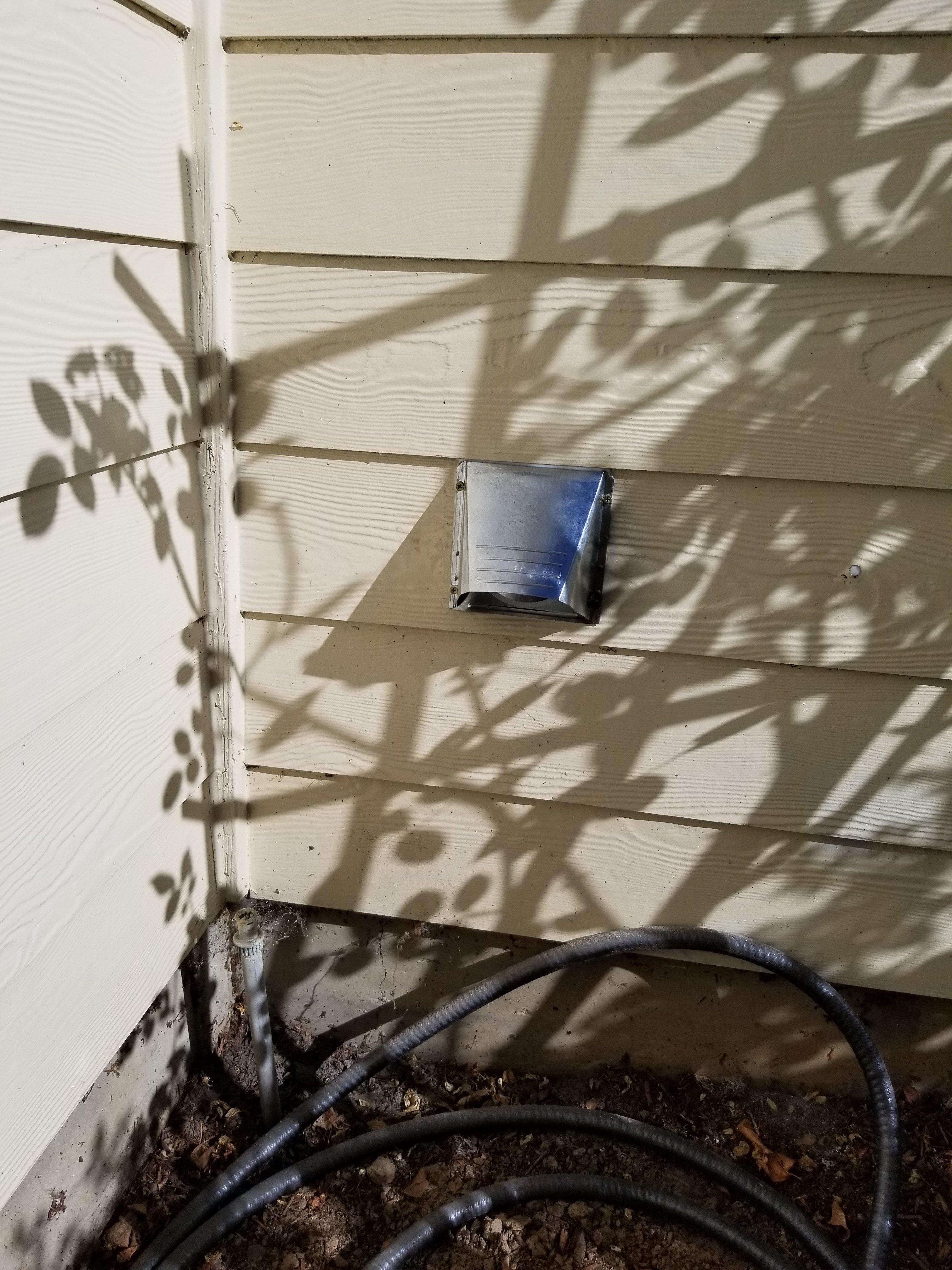 Dryer Vent Installation Through Garage Wall Hedgehog