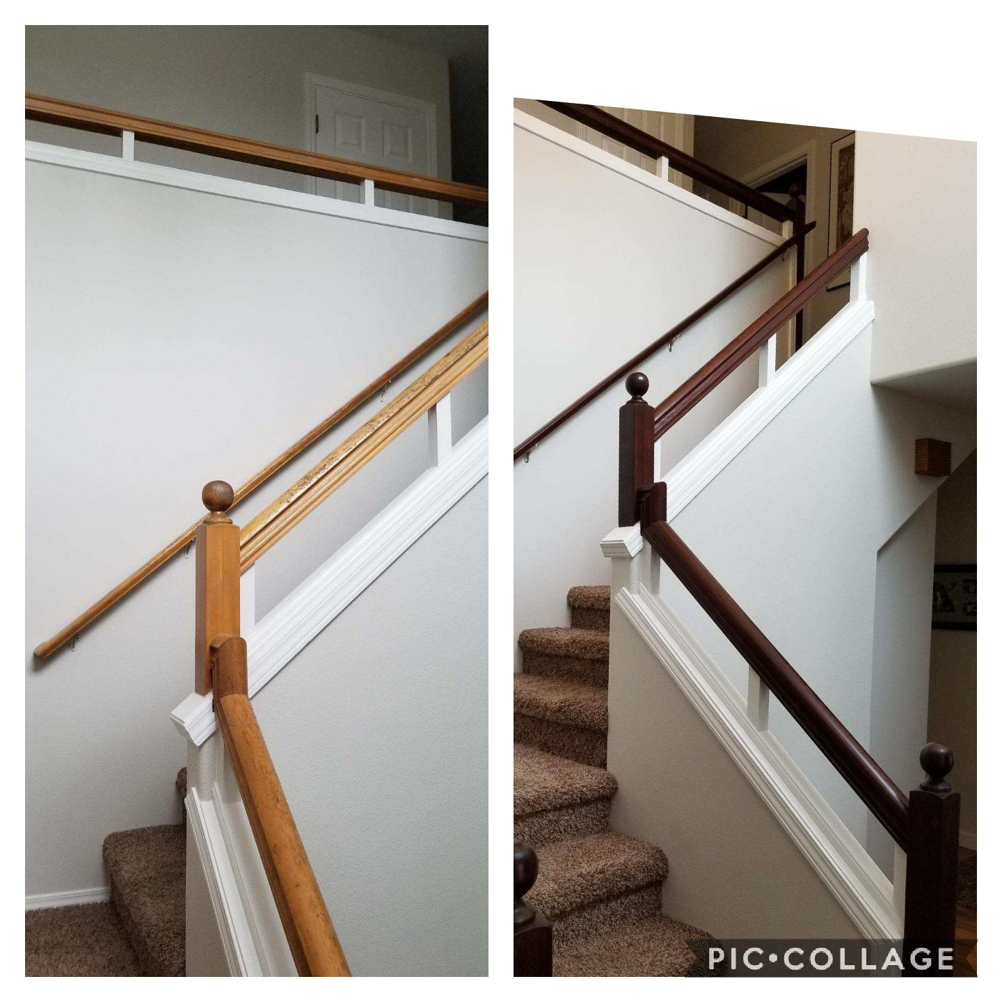 Restain Banisters